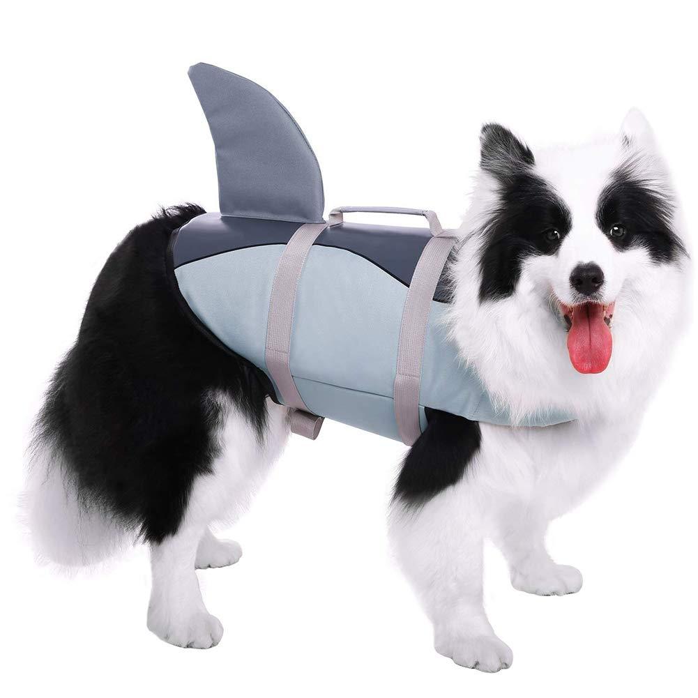 WLDOCA Adjustable Dog Life Vest,Soft Handle Rescue Vest Float for Pet,Swimming Pool, Beach,Sailing,XS