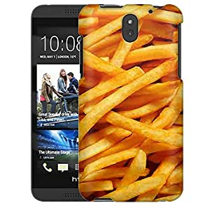 HTC Desire 610 Case, Slim Snap On Cover French Fries Case