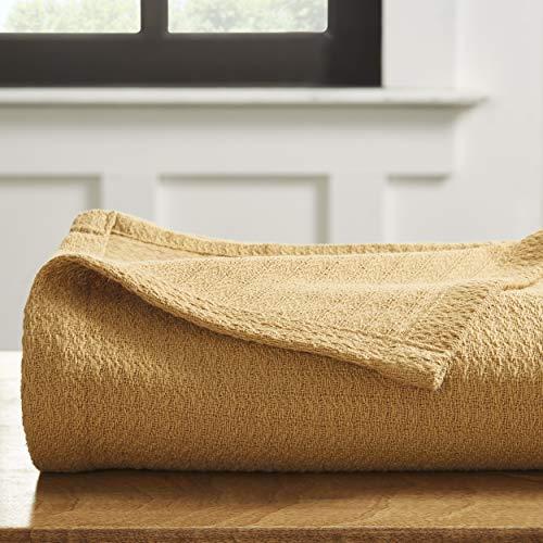 Curtain Sahara Cotton - Superior 100% Woven Cotton Textured Blanket, Twin, Sahara, 1-Piece