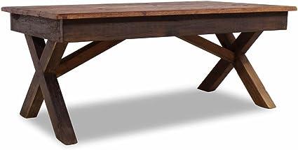 Lingjiushopping Tavolino Da Salotto In Legno Riciclato 110 X 60 X 45 Cm Realizzato A Mano Materiale Legno Massiccio Riciclato Amazon It Casa E Cucina