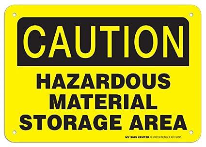Amazon.com: Precaución material peligroso cartel de área de ...