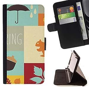 For Sony Xperia m55w Z3 Compact Mini - Autumn the new spring /Funda de piel cubierta de la carpeta Foilo con cierre magn???¡¯????tico/ - Super Marley Shop -