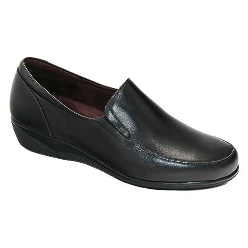 Pitillos 5200 mocasín Negro Confort Plantillas: Amazon.es: Zapatos y complementos