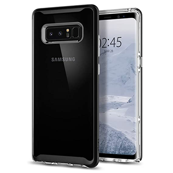 finest selection d0f6f 851c2 Spigen Neo Hybrid Crystal Galaxy Note 8 Case with Clear Hard Casing and  Reinforced Hard Bumper Frame for Galaxy Note 8 (2017) - Black