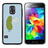 Paccase / Hard PC Skin Case Protective Shell Cover for - Cucumber Dill Funny Quote Joke Green Penis - Samsung Galaxy S5 Mini, SM-G800, NOT S5 REGULAR!