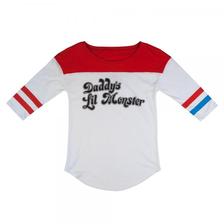 Suicide Squad Harley Quinn Daddy's Lil Monster Raglan Shirt
