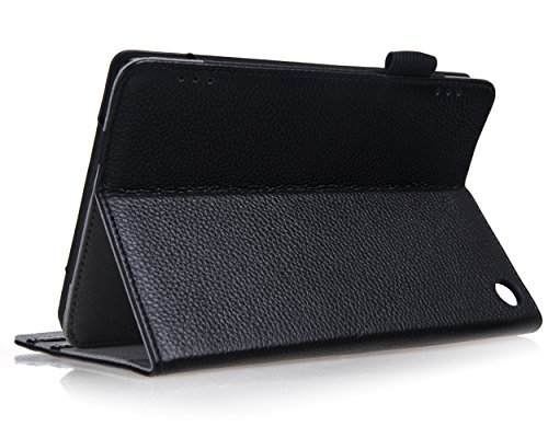 Bear Motion for New Fire HD 7 Tablet - Genuine Cowhide Leather Case for the New Fire HD 7 (Oct 2, 2014 Release)Will NOT Fit Previous Version of HD 7 Or any of the HDX tablets - Black