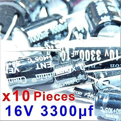 20 pcs x électrolytiques condensateur 3300uf 6.3 V condensateur cappacitor #a2944