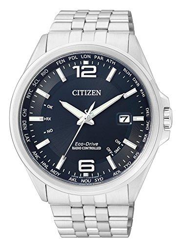 Citizen Herren-Armbanduhr XL Funkuhren Analog Quarz Edelstahl CB0010-88L