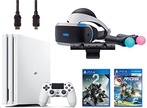 PlayStation VR Start Bundle 5 Items:VR Headset,Move Controller,PlayStation Camera Motion Sensor,PlayStation 4 Pro 1TB - Destiny 2 Bundle,VR Game Disc RIGS Mechanized Combat League by Sony VR