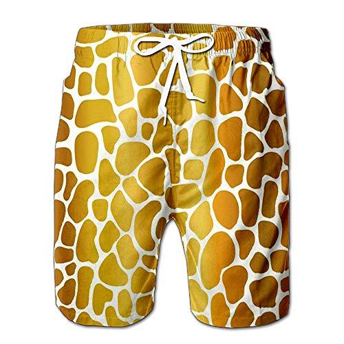 Quick Dry Gold Foil Abstract Mosaic Shapes Stylized Animal Skin Textur Beach Shorts Swim Trunks Board Shorts XXL (Sailboat Mosaic)