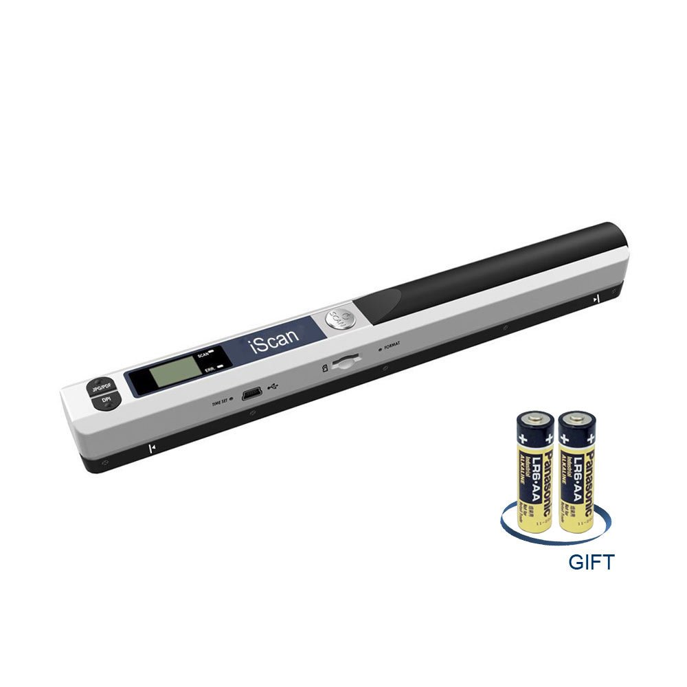 Wand Portable Handheld Document Scanners, Business Card and Image Scanner,USB Mobile Scanner Include AA Battery
