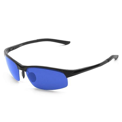 LATEC Polarizzati Guidare Gli Occhiali da Sole, Occhiali da Guida da Uomo Occhiali Sportivi Occhiali da Golf da Pesca con Telaio in Metallo e Protezione UV400