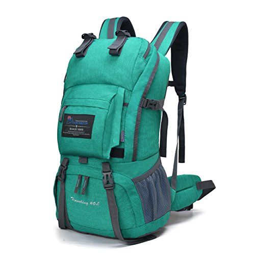 (Mountaintop 40 Liter Hiking Backpack with Rain Cover for Outdoor Camping)