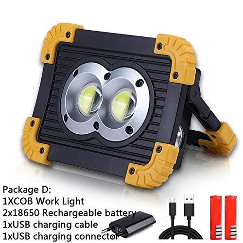 100W Linterna Led portátil Luz de trabajo Proyector Reflector ...