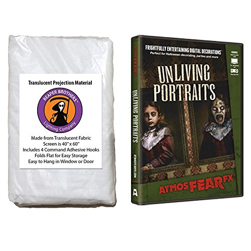 AtmosFearFX Unliving Portraits Halloween DVD and Reaper Brothers High Resolution Window Projection Screen]()