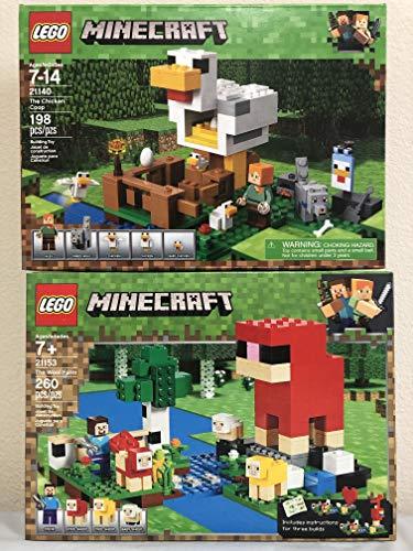 LEGO Minecraft The Wool Farm Paquete Minecraft The Chicken Coop