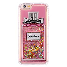 iPhone 6s Case, iPhone 6 Case,i-Dawn Clear Slim Fit Soft TPU Bumper Air Cushion Shockproof Glitter Sparkle Liquid Floating Quicksand Case Cover for iPhone 6/6s (4.7 inch)(Perfume)