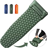 OlarHike Camping Sleeping Pad for Backpacking, Ultralight & Compact Camping Pad with Pillow, Inflatable Sleeping mat for Hiking, Journeyling-Green