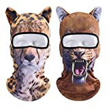 Oumers Animal Balaclava Face Mask with Ears Breathable Hood Face Shield for Outdoor Sports Cycling Motorcycle Ski Halloween Party Gift, One Size Fit Most (Women/Men)