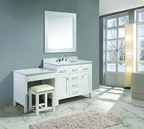 Design-Element-DEC076F-WMUT-W-London-42-Single-Sink-Vanity-Set-in-White-Finish-with-One-Make-Up-Table-in-White