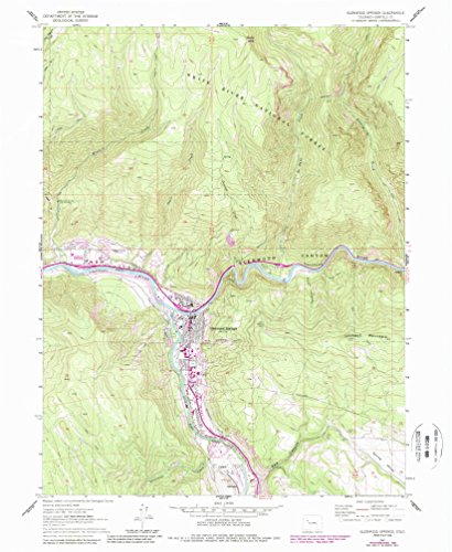 Glenwood Springs CO topo map, 1:24000 scale, 7.5 X 7.5 Minute, Historical, 1961, updated 1988, 26.8 x 22 IN - - Glenwood Valley