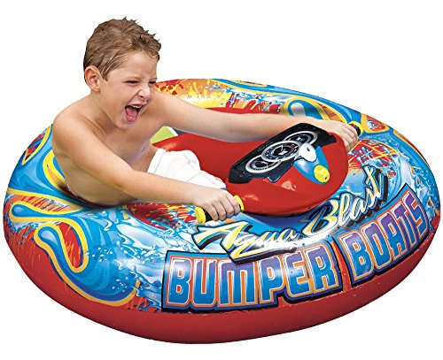 Banzai Aqua Blast Bumper Boat Motorized, Red