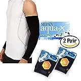 Mipan GamsungTex ARM Sleeves for Men and Women UV Cut Flexible & Durable by SOCKSCASTLE Aqua X