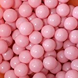 MoonxHome Pit Balls Crush Proof Plastic Children's Toy Balls Macaron Ocean Balls 2. 15 Inch Pack of 800 Pure Pink