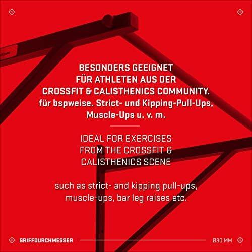 Hold Strong Fitness - Barra de Flexiones para Crossfit con Aprobación de Gimnasio en 957, para Kipping-Pullups y Muscle-Ups