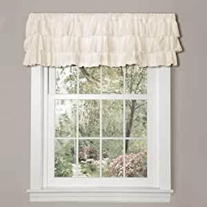 Lush Decor Belle Valance, 18 x 84-Inches, Ivory