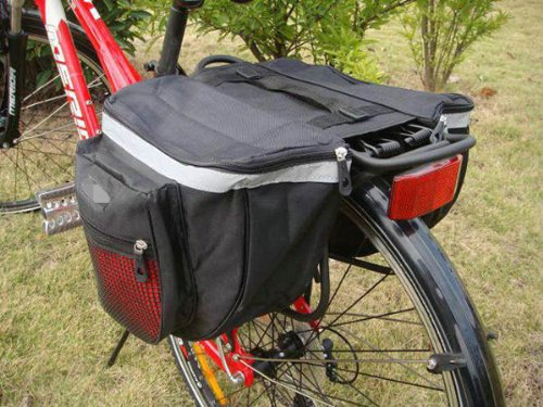 Meco Rack (Outdoor Waterproof 18L Bicycle Cycling Bike Big Rear Seat Bag Pannier Racks Red by Meco)