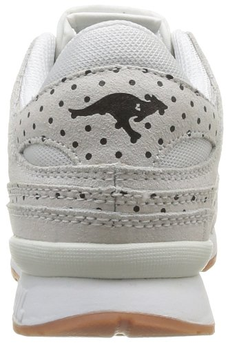 de Dots de 000 Blanco mujer cuero Kangaroos Zapatillas Blanc Deporte White Rage qtfZ5X