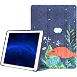 VORI Case for iPad 9.7 2018/2017-Lightweight Slim Soft Flexible TPU Back Smart Stand Case Cover [Auto Wake/Sleep] for Apple iPad 9.7 In 2017 Release Tablet, Sleeping Fish