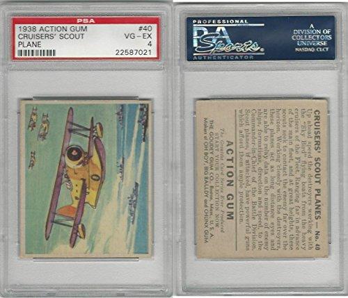 R1 Goudey, Action Gum, 1938, 40 Cruisers' Scout Plane, PSA 4 ()