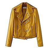 LJYH Women's Fashion Motorcycle Faux Leather Jacket Shorts