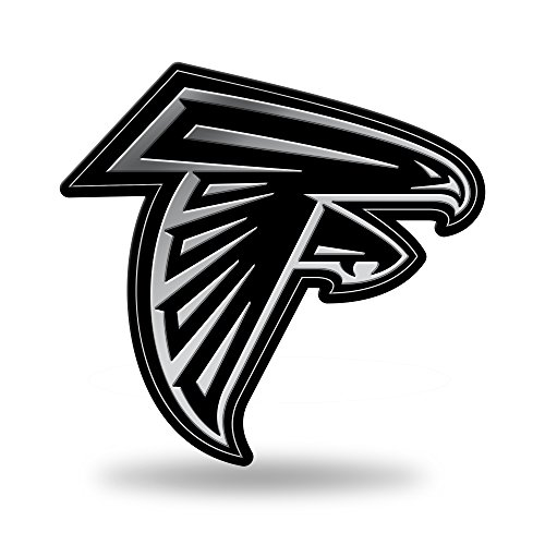 Rico Industries NFL Atlanta Falcons Chrome Finished Auto Emblem 3D Sticker