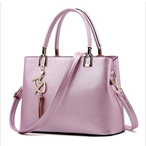 13 Salvajes Blanco Bolsos Asas Pu La Bolsa Purple color Sra De Manera Mensajero 21cm tamaño 29 Los Totalizador A8HwOq1A