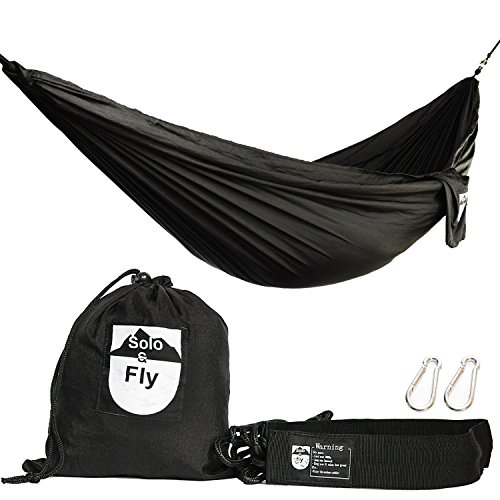 Camping Hammock with Adjustable Tree-Friendly Straps and Carabiners. Extra Strength Ripstop Ultralight Parachute...