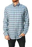 Ralph Lauren Men Button-Down Oxford Check Shirt (XL, Blue Plaid)