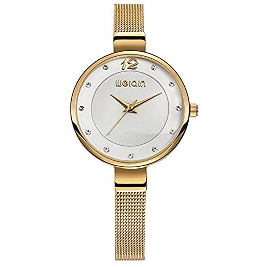 Hermosos Relojes de Moda Mujer Reloj de Cuarzo Reloj de Pulsera Correa de Acero: Amazon.es: Relojes