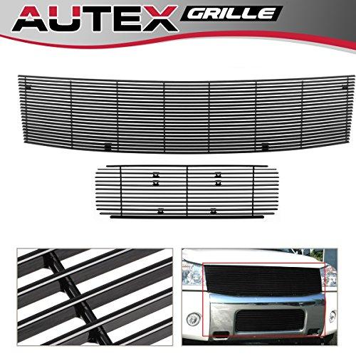 - AUTEX Aluminum Horizontal Billet Grille Combo Compatible with Nissan Armada/Titan 2004-2007 Grille Main Upper + Lower Bumper N87816H