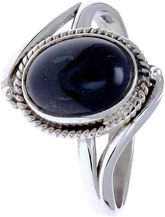 CHIC de Net Plata Anillos Onyx cuerda Arcos bolas ovalado 925 plata de ley anillos joyas 56 (17.8): Chic-Net: Amazon.es: Joyería