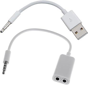 3.5mm Stecker auf 2.0 USB Konverter Kabel Verlängerungskabel USB auf AUX