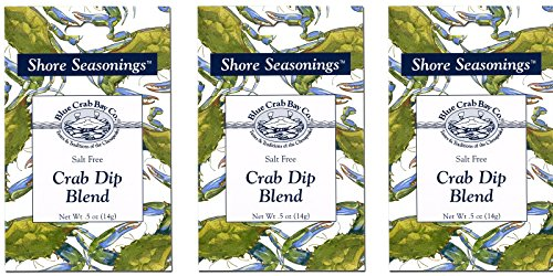 Blue Crab Bay Co. Seafood Dip Blend .5 Oz (Pack of 3) (Crab) Chesapeake Bay Crab Cake Recipe
