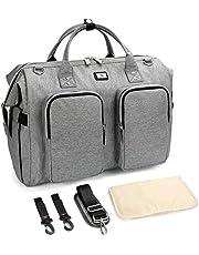 Pomelo Best Wickeltasche mit wasserdicher Wickelunterlage und 2 Kinderwagen Haken verstellbare Schultergurt multifunktionale Umhängetasche Reisetasche für Unterwegs