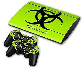 CSBC Skins Sony PS3 Super Slim Design Foils Faceplate Set - Biohazard Design