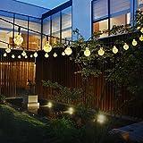 DMZ LED Christmas Strip Lights Solar Powered 30 LED String Light Garden Path Yard Decor Outdoor festival Lamp (YE)