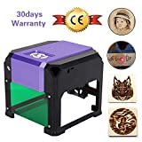 Beauty Star Laser Engraving Machine Laser Engraver Printer 3000MW Mini Desktop Laser Engraver Machine DIY Logo Laser Engraver CE Approved Working Area 80X80MM