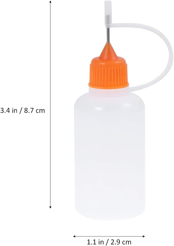 30ml Empty Glue Bottle with Needle Precision Tip Applicator Bottle for Paper Quilling DIY Craft
